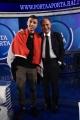 Foto/IPP/Gioia Botteghi Roma 25/03/2019 Puntata di Porta a porta con il piccolo eroe Egiziano , nella foto: Ramy Shehata con Bruno Vespa Italy Photo Press - World Copyright