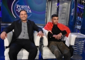 Foto/IPP/Gioia Botteghi Roma 25/03/2019 Puntata di Porta a porta con il piccolo eroe Egiziano , nella foto: Ramy Shehata con il padre Khalid  Italy Photo Press - World Copyright