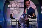 Foto/IPP/Gioia Botteghi Roma 20/03/2019 Porta a porta rai uno, ospite Virginia Raggi con Bruno Vespa Italy Photo Press - World Copyright