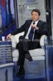 13/03/2014 Roma Matteo Renzi ospite di Bruno Vespa a porta a porta