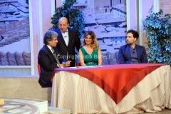 19/07/2015 Roma premio La giara su rai due nella foto: Giancarlo Magalli e Iannuzzo, caprioglio e il vincitore 2014 Roberto Malitelli