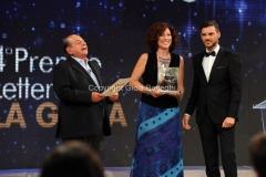19/07/2015 Roma premio La giara su rai due nella foto: Giancarlo Magalli e Erika Bianchi terza classificata