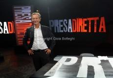 30/08/2013 Roma Presentazione della nuova serie di rai tre PRESADIRETTA, nella foto: il conduttore Riccardo Jacona