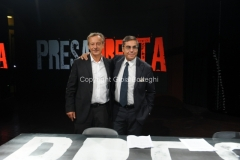 30/08/2013 Roma Presentazione della nuova serie di rai tre PRESADIRETTA, nella foto: il conduttore Riccardo Jacona ed il direttore di rai tre Andrea Vianello