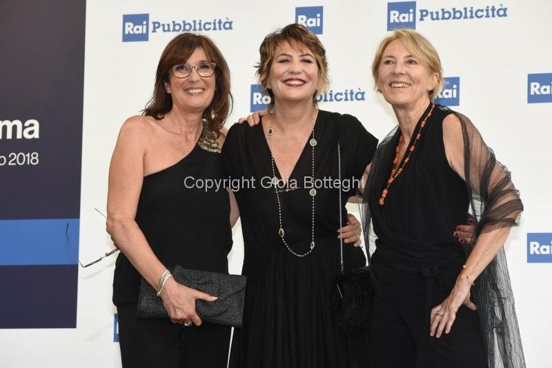 Foto/IPP/Gioia Botteghi 05/07/2018 Roma, presentazione dei palinsesti rai 2018, nella foto  Valentina Amurri, Serena Dandini, Linda Brunetta  Italy Photo Press - World Copyright