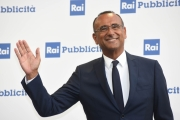 Foto/IPP/Gioia Botteghi 05/07/2018 Roma, presentazione dei palinsesti rai 2018, nella foto  Carlo Conti  Italy Photo Press - World Copyright
