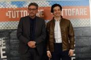 Foto/IPP/Gioia Botteghi13/04/2018 Roma, presentazione del film Il tuttofare, nella foto: Sergio Castellitto e Guglielmo Poggi  Italy Photo Press - World Copyright