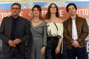 Foto/IPP/Gioia Botteghi 13/04/2018 Roma, presentazione del film Il tuttofare, nella foto: Sergio Castellitto e Elena Sofia Ricci, Clara Alonso Guglielmo Poggi   Italy Photo Press - World Copyright