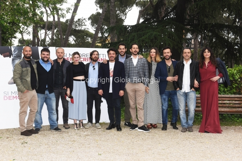 Foto/IPP/Gioia Botteghi 04/05/2018 Roma, Presentazione del film Si muore tutti democristiani, nella foto: cast  Italy Photo Press - World Copyright
