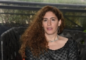 Foto/Gioia Botteghi 09/04/2018 Roma,  presentazione del film Wajib, nella foto: regista palestinese  Annemarie Jacir  Italy Photo Press - World Copyright