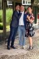 """Foto/IPP/Gioia Botteghi 04/09/2018 Roma, presentazione del nuovo programma di rai 2 2 in onda anche su radio 2, """"B come sabato"""", nella foto: Andre Delogu, Gabriele Corsi, Marco Mazzocchi  Italy Photo Press - World Copyright"""