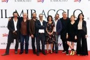 Foto/IPP/Gioia Botteghi 03/05/2018 Roma, Presentazione della serie tv di SKY, Il miracolo, nella foto: Niccolò Ammaniti con Lucio Pellegrini e Francesco Munzi ed il cast  Italy Photo Press - World Copyright