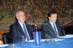 02/10/2013 Roma presentazione in rai del libro Le televisioni di Massimo Fichera, nella foto Gubitosi, Veltroni
