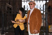 Foto/IPP/Gioia Botteghi Roma 25/09/2019 Prix Italia Rai ai fori imperiali, nella foto Renzo Arbore con Virginia Raggi Italy Photo Press - World Copyright