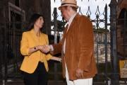Foto/IPP/Gioia Botteghi Roma 25/09/2019 Prix Italia Rai ai fori imperiali, nella foto Renzo Arbore con Virginia Raggi Italy Photo Press - World Copyright