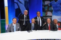 15/09/2014 Roma IL PROCESSO DEL LUNEDI, nella foto: Enrico Varriale con Marino Bartoletti, Sergio Brio, Enzo Bucchioni, Carlo Presutti