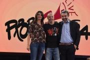 Foto/IPP/Gioia Botteghi 28/09/2017 Roma, presentazione del nuovo programma di La7 PROPAGANDA, nella foto: Diego Bianchi con Francesca Schianchi e Marco Damilano