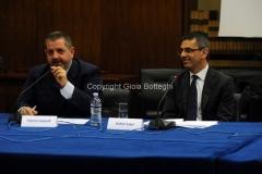 11/12/2014 Roma Convegno rai La lingua italiana sulla frontiera, nella foto: Fabrizio Casinelli Responsabile ufficio stampa RAI e Stefano Luppi