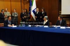 29/3/2012 Roma presentazione di Rai Scuola, nella foto: il ministro Profumo, Silvia Calandrella, Fabrizio Casinelli