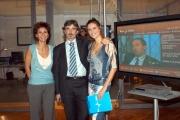 Gioia/Botteghi/OMEGA RAI UTILE canale digitale terrestre le due conduttrici Sabina Stilo e Selena Pellegrini. con il direttore Angiolino Lonardi