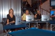 Gioia/Botteghi/OMEGA RAI UTILE canale digitale terrestre una parte della redazione in studio,diretta.