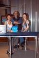 Gioia/Botteghi/OMEGA RAI UTILE canale digitale terrestre le due conduttrici Sabina Stilo e Selena Pellegrini. con il regista Andrea Soldani