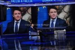 11/11/2014 Roma Renzi ospite di porta a porta