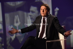 09/10/2016 Roma Renzi ospite di Giletti