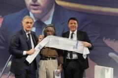 20/12/2015 Roma Renzi opsite da Giletti all'arena, nella foto Colonna