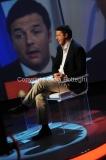 18/05/2014 Roma Matteo Renzi ospite a Domenica in, intervistato da Massimo Giletti