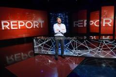 22/04/2017 Roma Sigfrido Ranucci nello studio di report rai tre