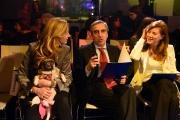 09/02/2017 Roma trasmissione su radiouno Saremo da pecora nella foto Michela Biancofiore e Gabriella Giammanco le vincitrici con Maurizio Gasparri