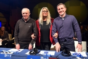 09/02/2017 Roma trasmissione su radiouno Saremo da pecora nella foto la giuria con Mara Venier Dario Argento e Massimo Giannini