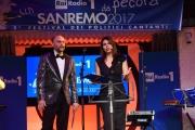 09/02/2017 Roma trasmissione su radiouno Saremo da pecora nella foto Geppi Cucciari e Girgio Lauro