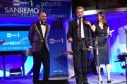 09/02/2017 Roma trasmissione su radiouno Saremo da pecora nella foto Cesare Damiano con Geppi Cucciari e Girgio Lauro