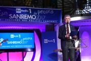 09/02/2017 Roma trasmissione su radiouno Sanremo da pecora nella foto Cesare Damiano