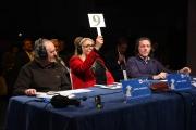 09/02/2017 Roma trasmissione su radiouno Sanremo da pecora nella foto la giuria con Mara Venier Dario Argento e Massimo Giannini
