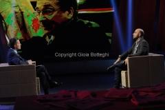 11/11/2014 Roma Roberto saviano ospite di Ballarò con Massimo Giannini