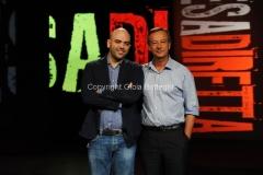 09/09/2013 Roma ospite della trasmissione Presadiretta Roberto Saviano con Riccardo Jacona