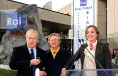 16/12/2011 Roma, Presentazione della targa dedicata a Biagio Agnes nella sede rai di Saxa Rubra, nella foto Rosella Agnes, Garimberti, Lei
