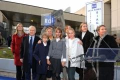 16/12/2011 Roma, Presentazione della targa dedicata a Biagio Agnes nella sede rai di Saxa Rubra, nella foto Rosella Agnes, Garimberti, Lei, e tutta la famiglia Agnes