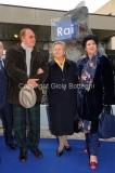 16/12/2011 Roma, Presentazione della targa dedicata a Biagio Agnes nella sede rai di Saxa Rubra, nella foto Rosella Agnes con renzo Arbore e Marisa Laurito
