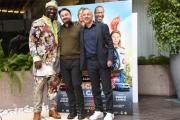 Foto/IPP/Gioia Botteghi Roma 18/03/2019 Presentazione della film,Scappo a casa, nella foto: il regista ENRICO LANDO con  Aldo Baglio JACKY IDO,  Italy Photo Press - World Copyright