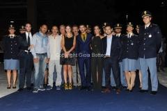 10/09/2015 Roma serata di presentazione della fiction IL GIOVANE MONTALBANO, nella foto: il cast