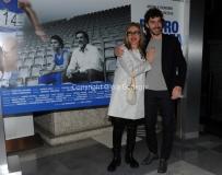 20/03/2015 Roma serata al coni per la presentazione della fiction di raiuno Pietro Mennea, nella foto: Michele Riondino Lunetta Savino