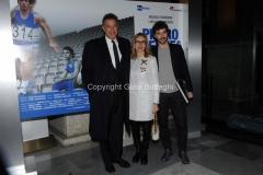 20/03/2015 Roma serata al coni per la presentazione della fiction di raiuno Pietro Mennea, nella foto: Michele Riondino Luca Barbareschi Lunetta Savino
