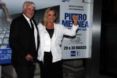 20/03/2015 Roma serata al coni per la presentazione della fiction di raiuno Pietro Mennea, nella foto:Ricky Tognazzi con Simona Izzo