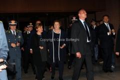 05/05/2013 Roma serata in beneficenza della figlia del carabiniere ferito a palazzo Chigi organizzata dalla rai con la visione dello sceneggiato Montalbano, nella foto il ministro Cancellieri