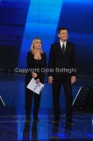 18/12/2015 Roma serata d'apertura per il telethon rai uno, nella foto: Frizzi Sciarelli