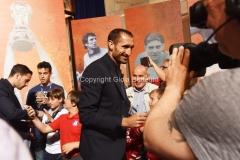 31/05/2016 Roma puntata speciale SOGNO AZZURRO, nella foto Chiellini con i bambini delle scuole calcio